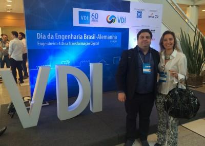 Presença no evento da VDI  Assoc. Engenheiros Brasil-Alemanha - Flávia Ursini e Flávio Liberal